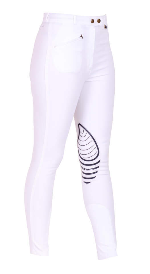 white breeches with stick inside leg - Tagg Equestrian