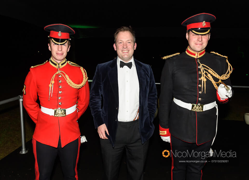 Sam Rickitt with the Household Cavalry