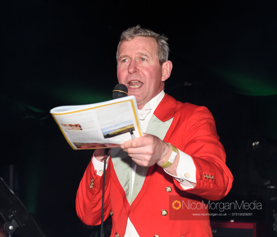 Tim Hercock auctioneering at the Quorn Ball 2019
