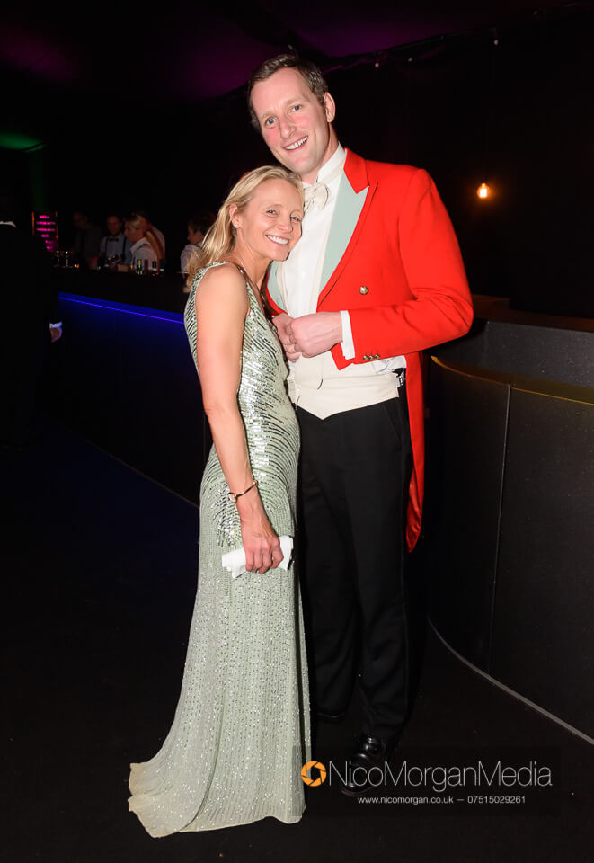 Hosts Tim and Amanda Eastwood at the Quorn Ball 2019