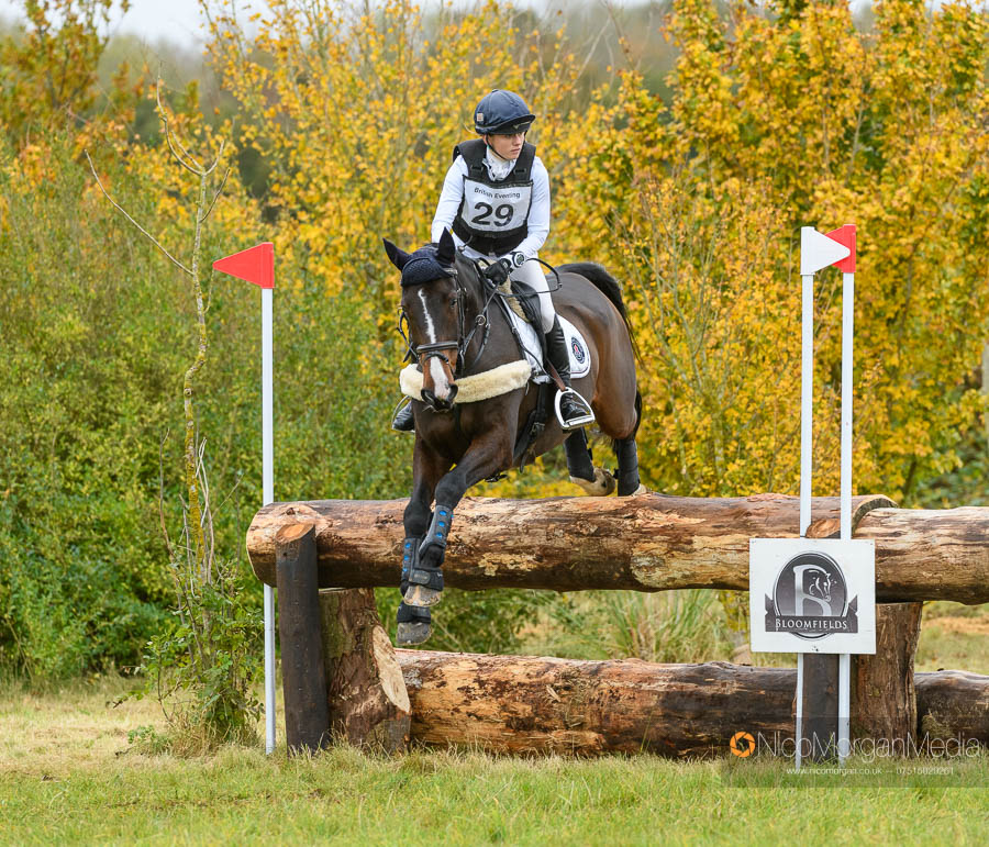 Imogen Gloag and OXMOUNTAIN FLYER at Oasby Horse Trials