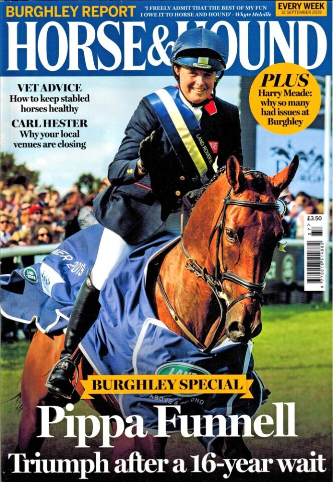 Pippa Funnell and MGH Grafton Street on the cover of Horse & Hound